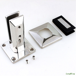 Spigot Stainless Steel Square Architectural Hardware Fitting- LongWing