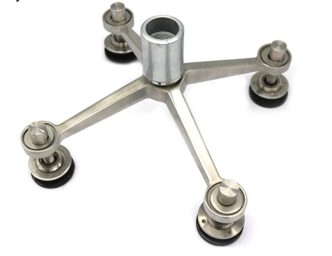 4 Ways Stainless Steel Spider Glass Fittings